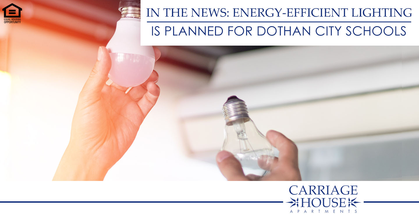 energy-efficient lighting is planned for Dothan City Schools
