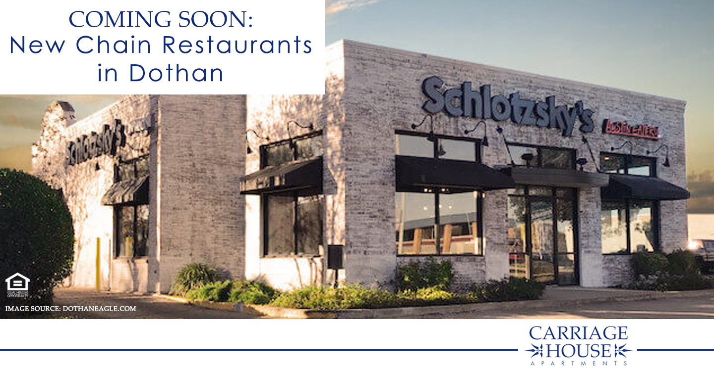 Coming Soon: New Chain Restaurants in Dothan